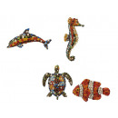 Magnetic sea animals made of poly, 8-10 cm