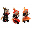 wholesale Home & Living: Witch made of poly on pumpkin, 12 cm
