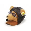 Cap Pilot bear made of plush