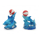 wholesale Outdoor Toys: Dolphin with poly ball, 3x3x5cm