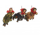 wholesale Decoration: Witch made of poly, flying, 17 cm