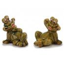 Großhandel Spielzeug: Frosch aus Porzellan, sitzend, 8 x 9 x ...