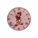 Wooden wall clock 'Clown', 24 cm
