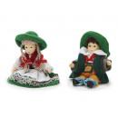 wholesale Fashion & Apparel: Bavarian doll with porcelain head, 10 cm