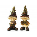Pine cones Wichtel made of poly, 18 cm