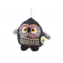 wholesale Toys: Owl knitted with hanger, 15 cm