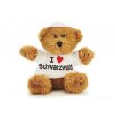 Bär aus Plüsch mit Pullover 'I love Schwarzwald' 1