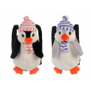 Penguin backpack in plush, 30 cm