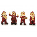 wholesale Music Instruments: Clown made of poly with musical instruments, 8,5 c