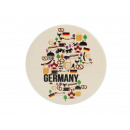 Coaster 'Germany' made of porcelain, 11 cm