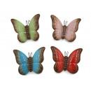 wholesale Artificial Flowers: Ceramic butterfly 12 x 4 x 9 cm