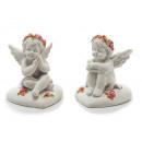 Großhandel Dekoration: Engel auf Herz aus Poly, 5x5x6cm