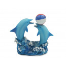 Großhandel Outdoor-Spielzeug: Delfine spielend mit Ball aus Poly, 10x4x9,5cm