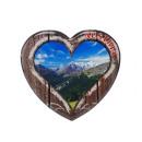 Großhandel Magnete: Magnet Herz aus Metall 'Austria', 6 cm