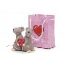 nagyker Otthon és dekoráció:Egerek pár kerámia, 6 cm