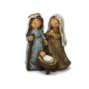 Holy Family made of poly, 11 cm