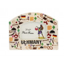 Picture frame 'Germany' made of porcelain,