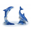 Dolphin on wave of poly, 10 cm