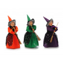 wholesale Decoration: Witch made of poly standing 24 cm