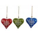 grossiste Décoration: Coeur en métal avec cintre 17 cm
