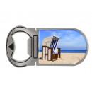 mayorista Regalos y papeleria: Silla de playa con abrebotellas con imán de metal,