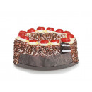 Black Forest cherry cake magnet made of poly