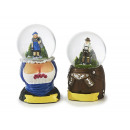 wholesale Cremes: Glitter ball made of poly with figures, 8 cm