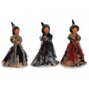 Witch made of poly standing 35 cm