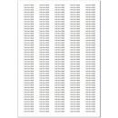 Label sheet self-adhesive-transparent
