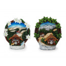 Wreath with landscape of poly, 11 cm