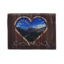Canvas Austria on wooden frame, 7 x 5 cm