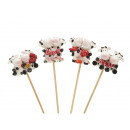 wholesale Flowerpots & Vases: Cows of poly on wooden stick, 4 cm