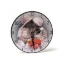 Wooden wall clock, 24 cm