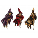 Witch made of poly, flying, 30 cm