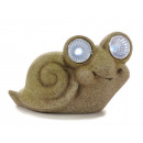 Solar snail with LED eyes, 13x6x8 cm