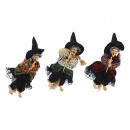 Witch made of poly, flying, 19 cm