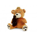 Funny bear with beer bottle of plush, 25 cm