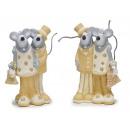 Ceramica mouse Sposi, 12 cm
