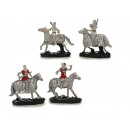Knight of poly on horse, 13 cm
