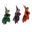 Witch made of poly flying 24 cm