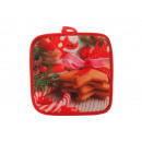 wholesale Kitchen Utensils: Potholders Christmas design 18 x 18 cm
