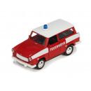 Großhandel Fanartikel & Souvenirs: Trabi Feuerwehr aus Spritzguss, 1:30