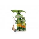Kikker met kikker kind keramiek 8 x 4 x 15 cm