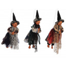 Witch made of poly flying 35 cm