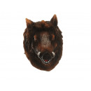 Wild boar head magnet made of poly 5x5x8cm