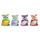Magnet Owl made of poly, 4 cm