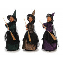 Witch made of poly standing 40 cm