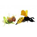 Wasp + grasshopper made of plush, 30 cm