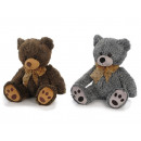 Plush bear, 25 cm with brown bow