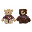 wholesale Toys: Bear with sweater in plush, 28 cm